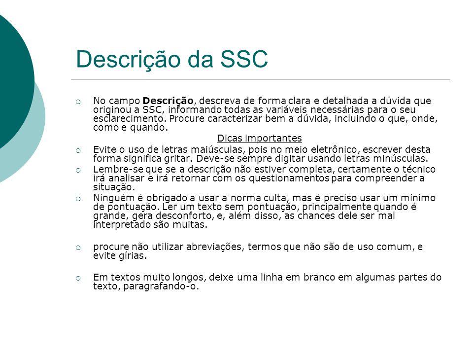Descrição da SSC