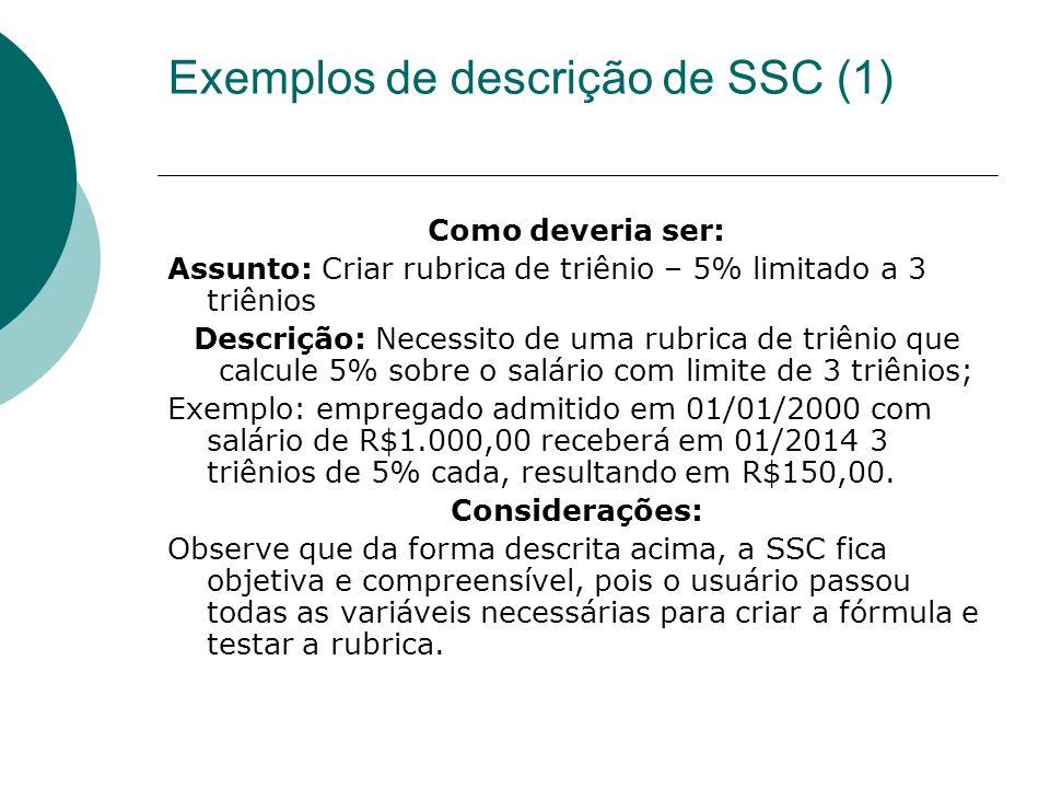 Exemplos de descrição de SSC (1)