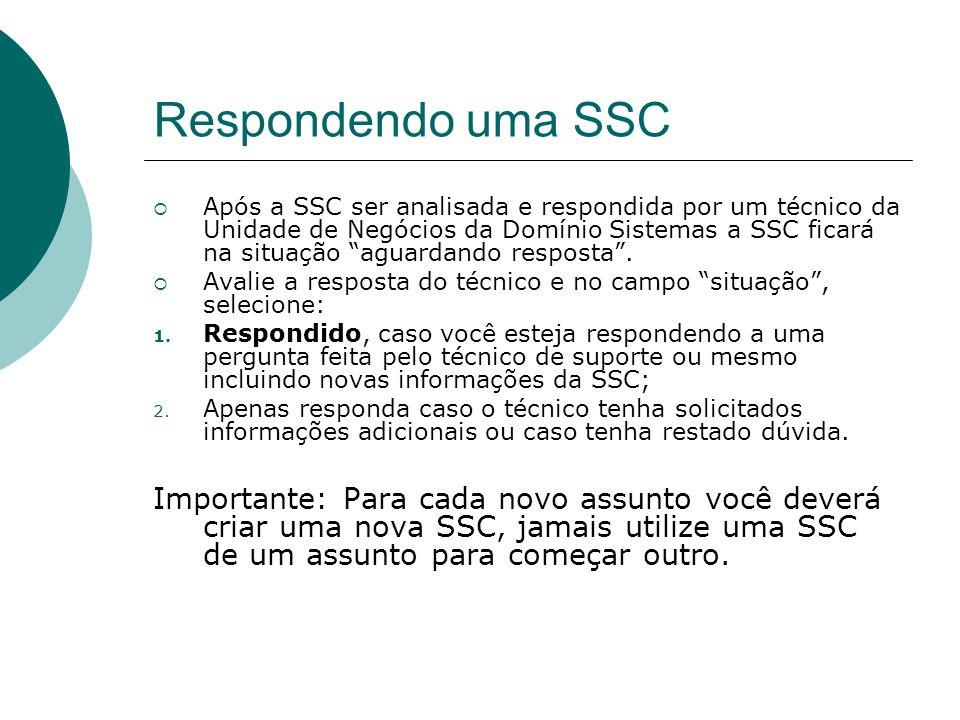 Respondendo uma SSC