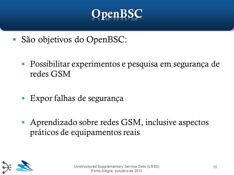 OpenBSC São objetivos do OpenBSC: