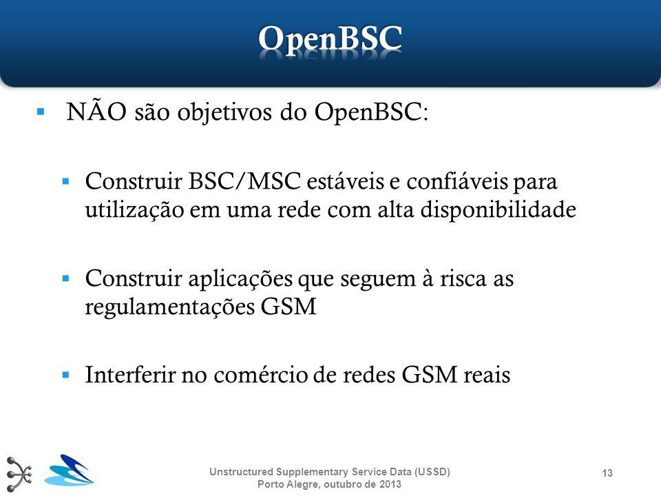 OpenBSC NÃO são objetivos do OpenBSC: