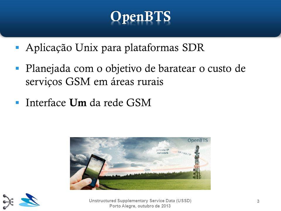 OpenBTS Aplicação Unix para plataformas SDR