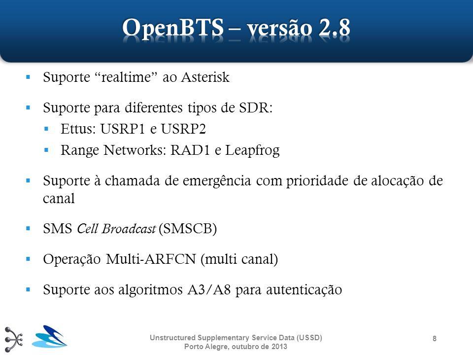 OpenBTS – versão 2.8 Suporte realtime ao Asterisk