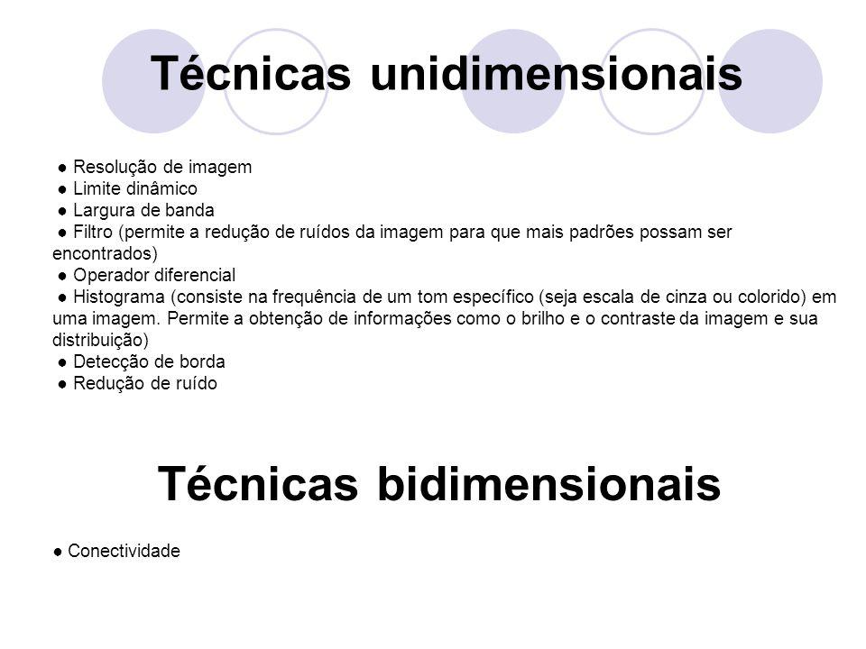Técnicas unidimensionais Técnicas bidimensionais