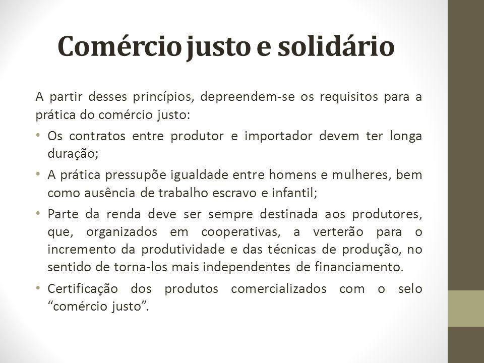 Comércio justo e solidário