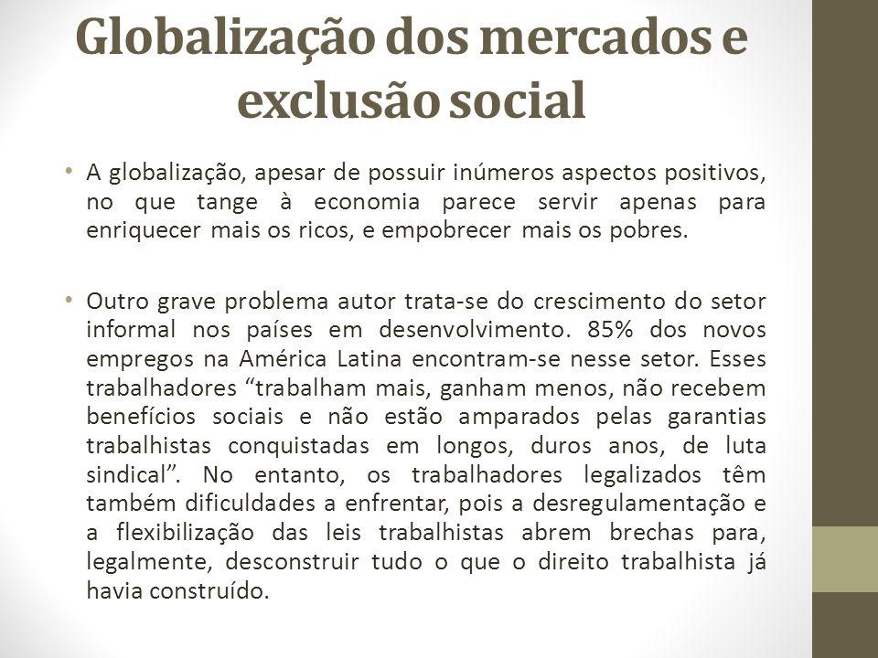 Globalização dos mercados e exclusão social