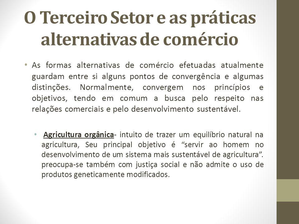 O Terceiro Setor e as práticas alternativas de comércio