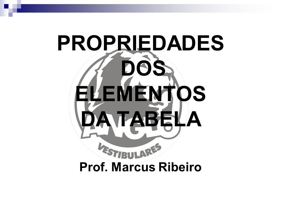 PROPRIEDADES DOS ELEMENTOS DA TABELA