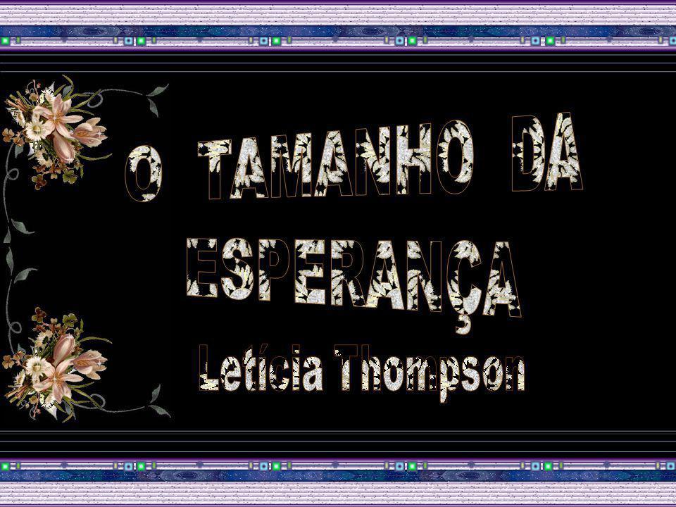 O TAMANHO DA ESPERANÇA Letícia Thompson
