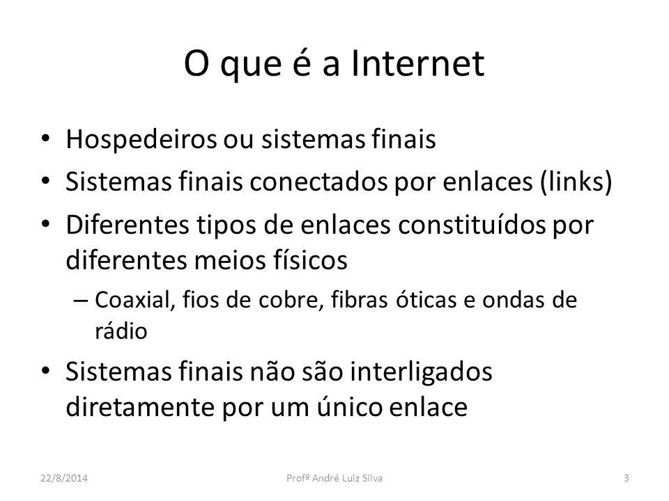 O que é a Internet Hospedeiros ou sistemas finais