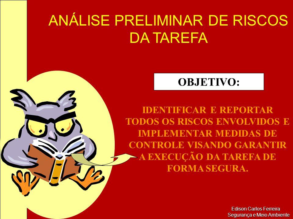 OBJETIVO: IDENTIFICAR E REPORTAR TODOS OS RISCOS ENVOLVIDOS E IMPLEMENTAR MEDIDAS DE CONTROLE VISANDO GARANTIR A EXECUÇÃO DA TAREFA DE FORMA SEGURA.