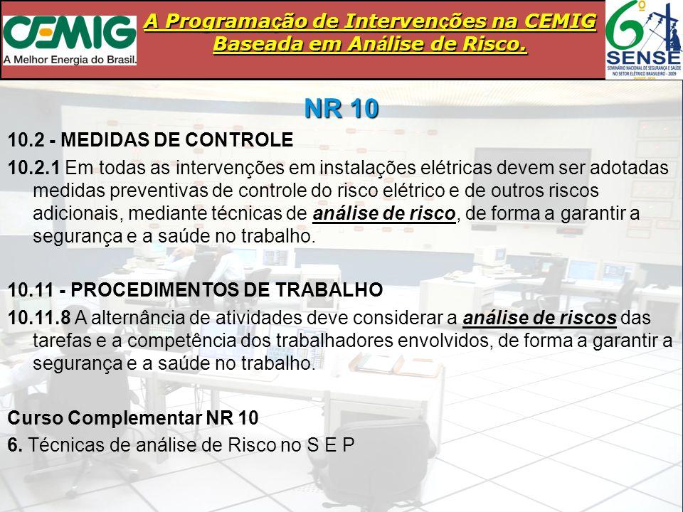 NR 10 10.2 - MEDIDAS DE CONTROLE