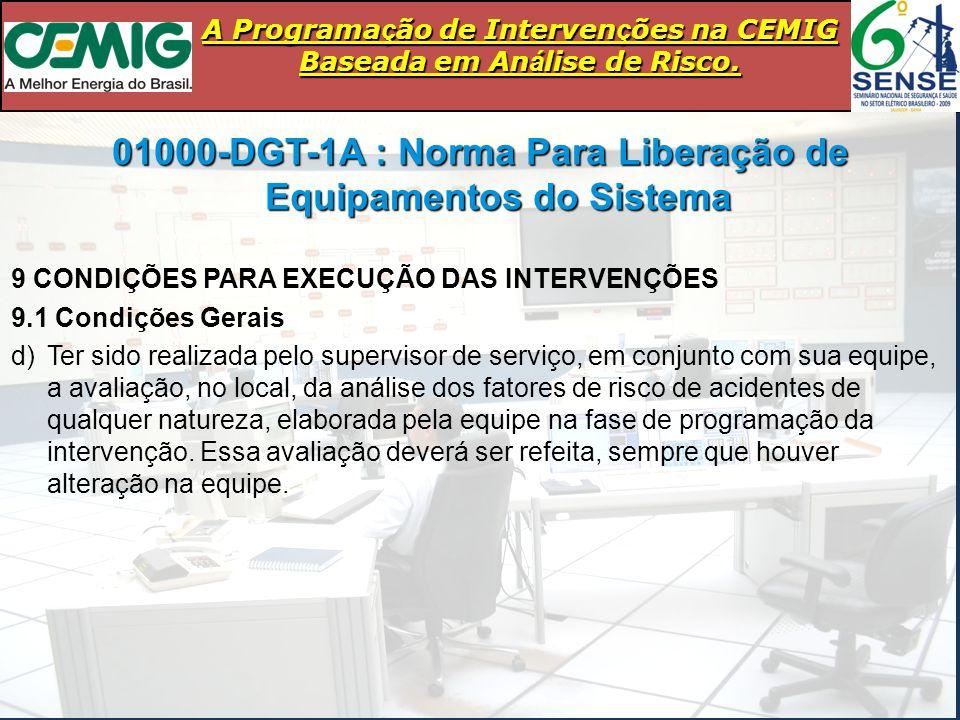 01000-DGT-1A : Norma Para Liberação de Equipamentos do Sistema