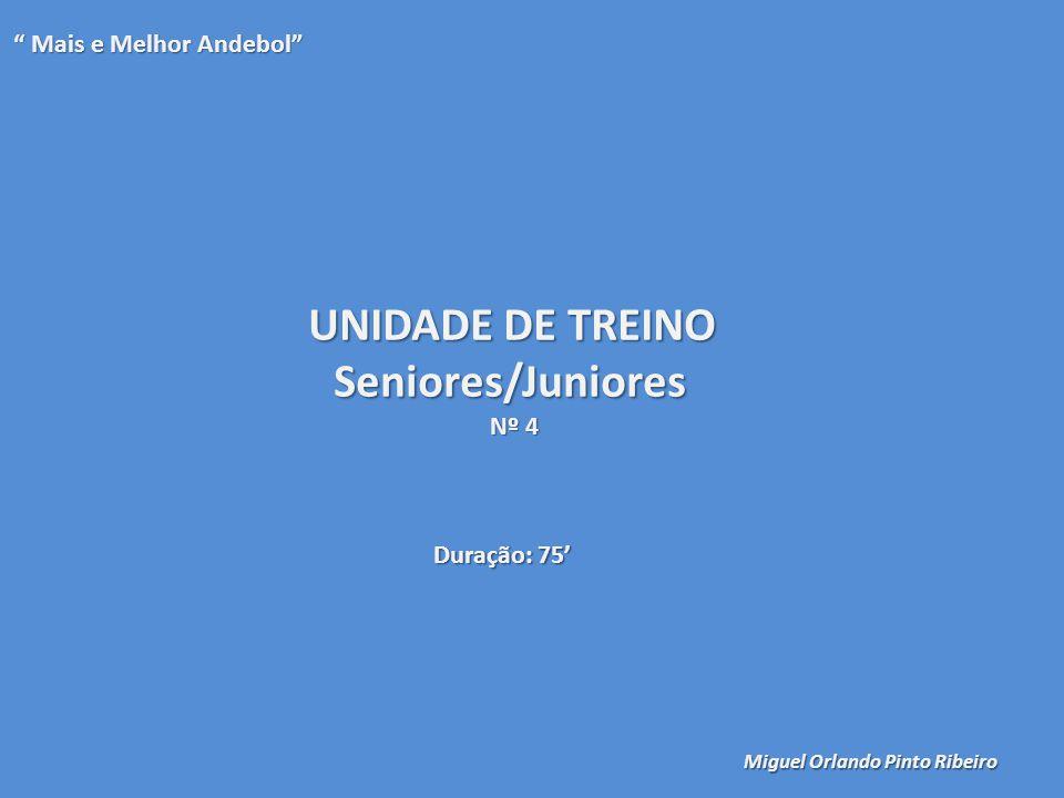 UNIDADE DE TREINO Seniores/Juniores Mais e Melhor Andebol Nº 4