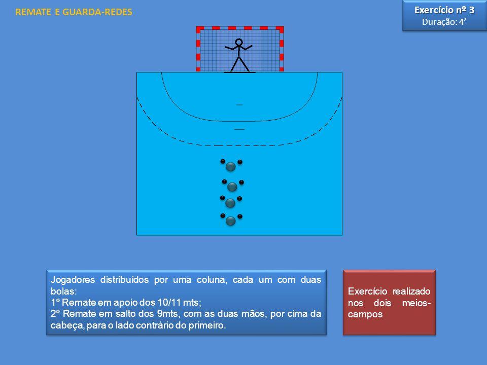 REMATE E GUARDA-REDES Exercício nº 3