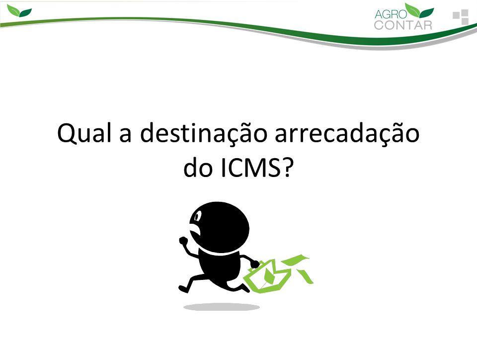 Qual a destinação arrecadação do ICMS