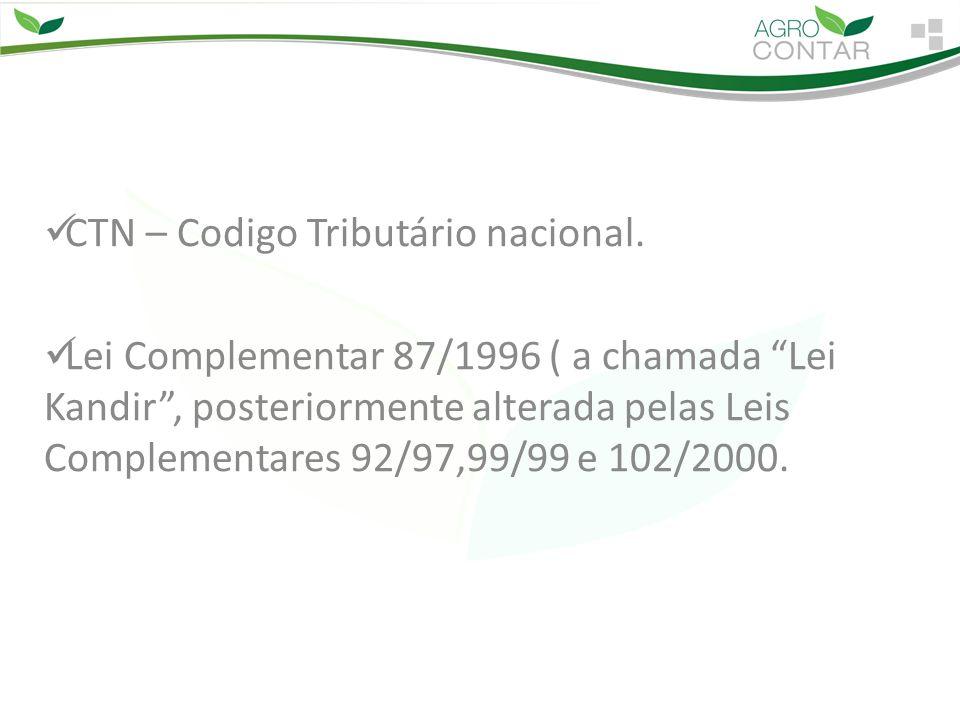 CTN – Codigo Tributário nacional.