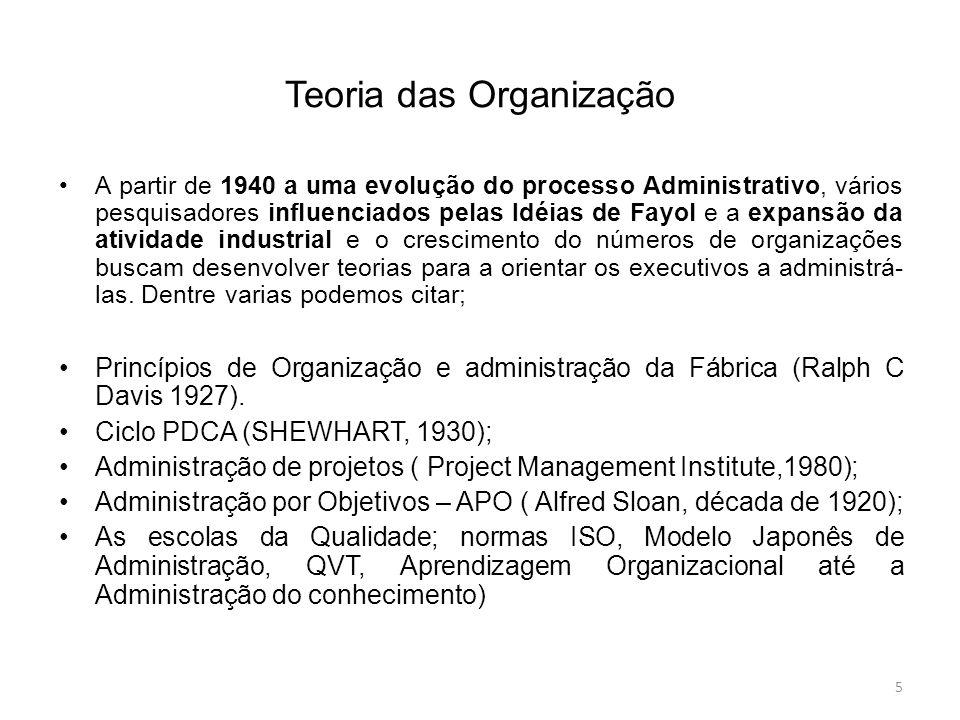 Teoria das Organização
