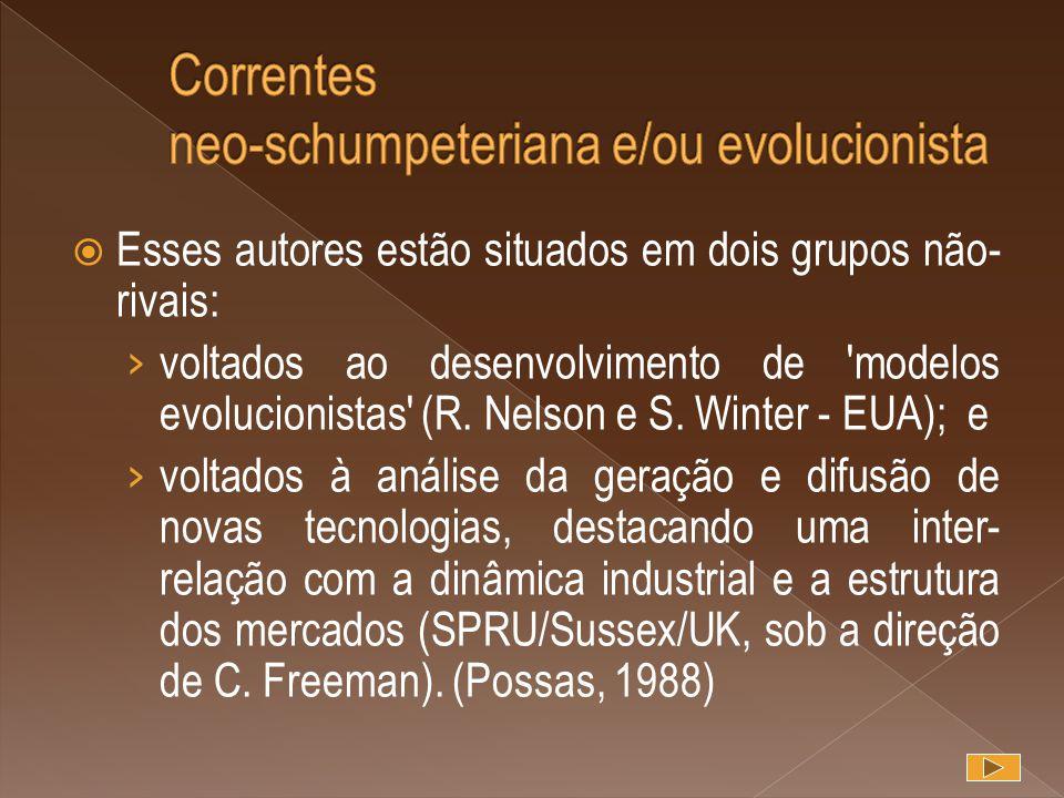 Correntes neo-schumpeteriana e/ou evolucionista