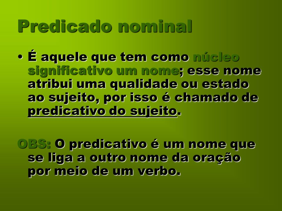 Predicado nominal