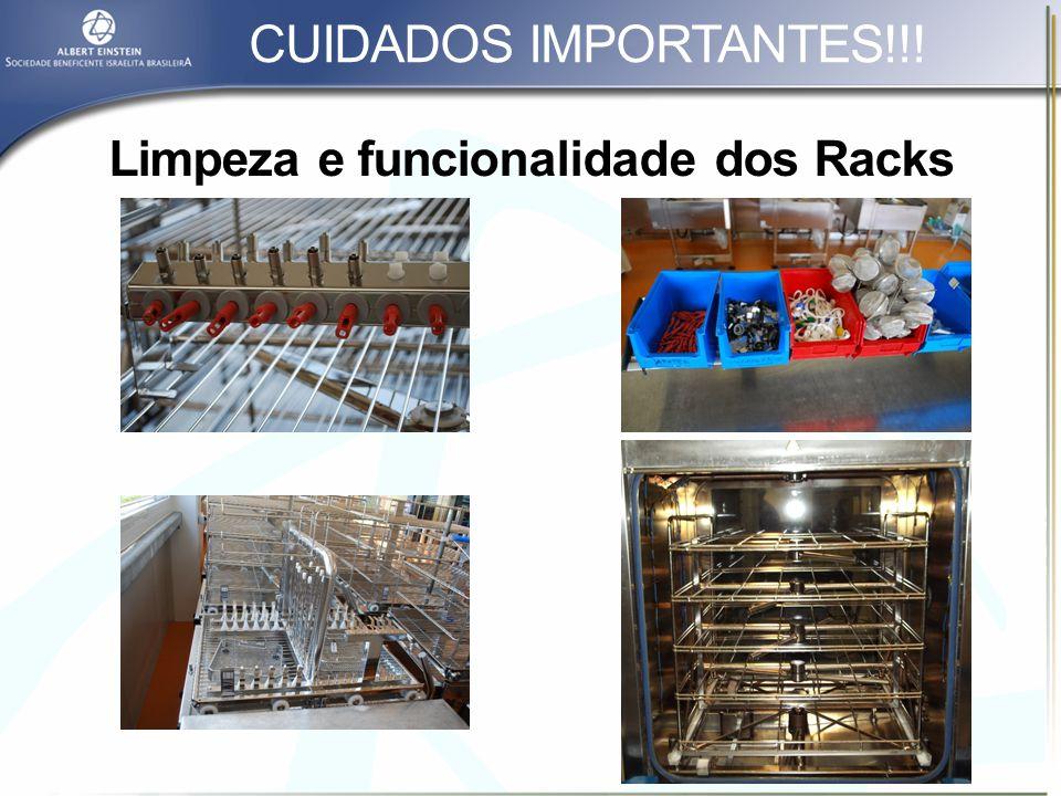 Limpeza e funcionalidade dos Racks
