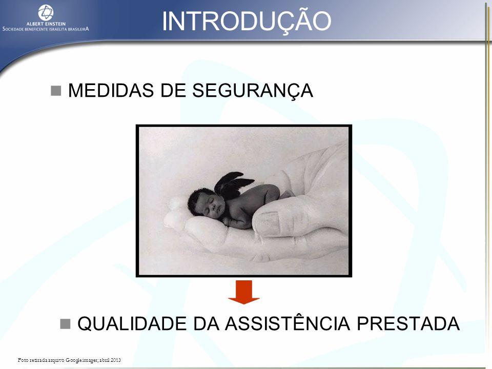 INTRODUÇÃO MEDIDAS DE SEGURANÇA QUALIDADE DA ASSISTÊNCIA PRESTADA
