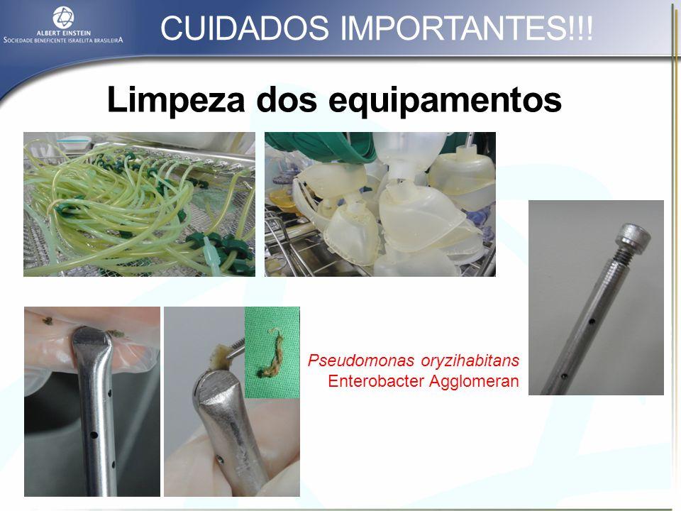 Limpeza dos equipamentos
