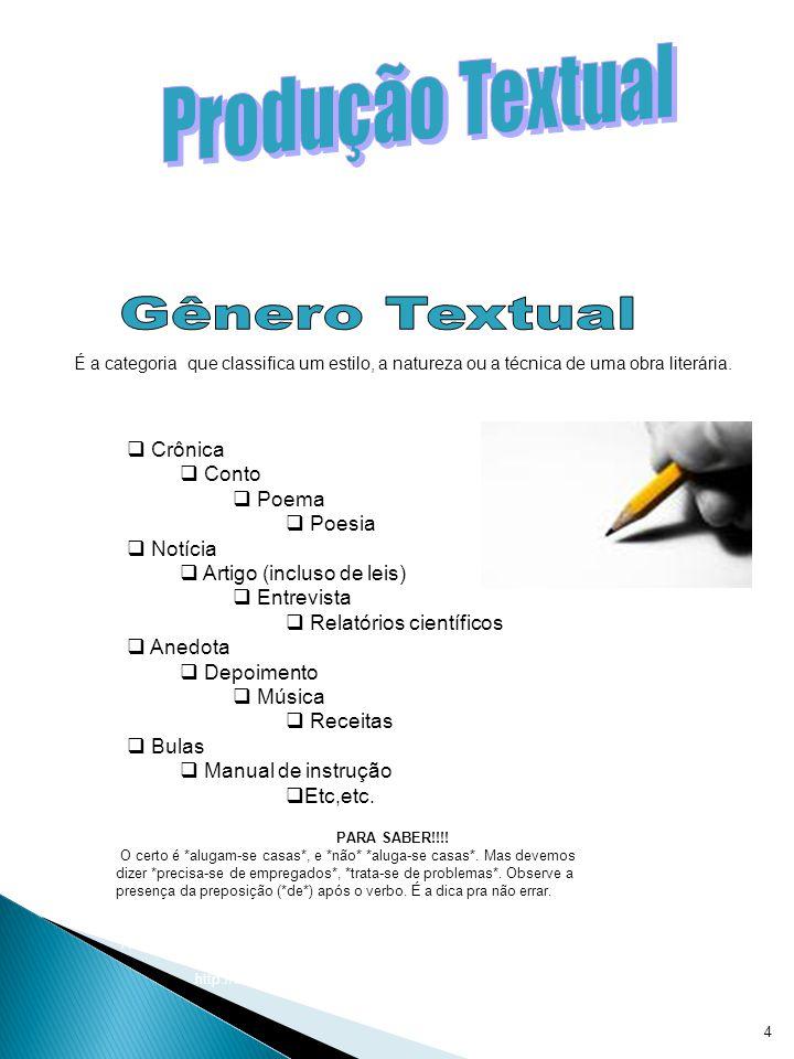 Produção Textual Gênero Textual