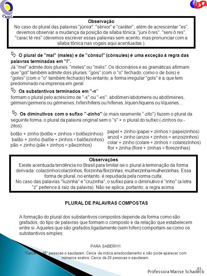 PLURAL DE PALAVRAS COMPOSTAS