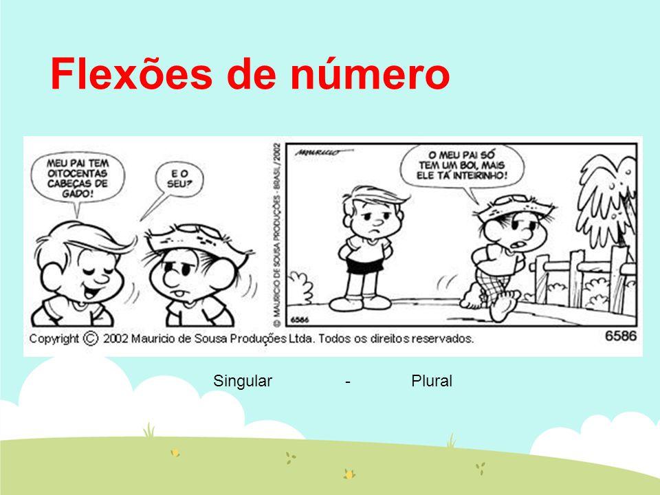 Flexões de número Singular - Plural