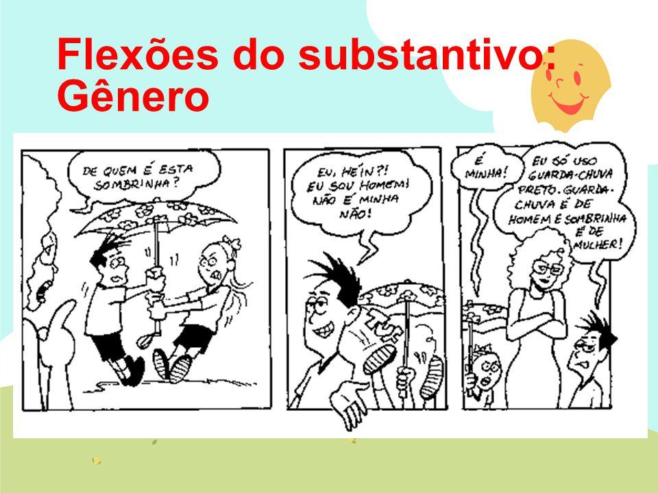 Flexões do substantivo: Gênero