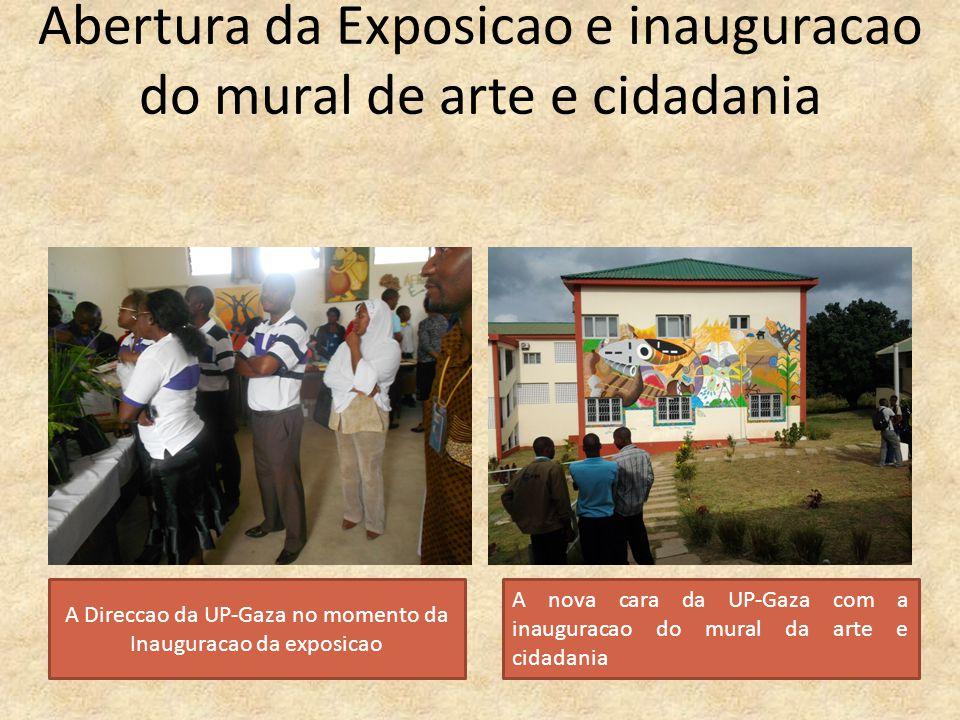 Abertura da Exposicao e inauguracao do mural de arte e cidadania