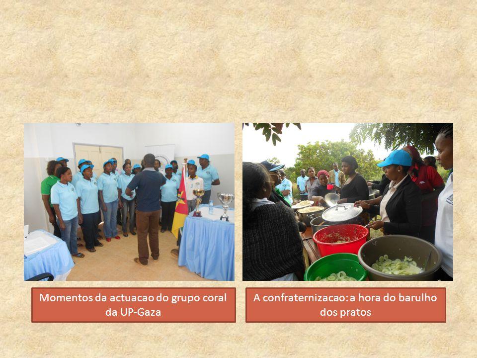 Momentos da actuacao do grupo coral da UP-Gaza