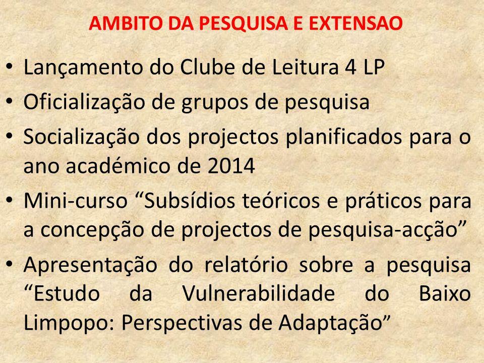 AMBITO DA PESQUISA E EXTENSAO