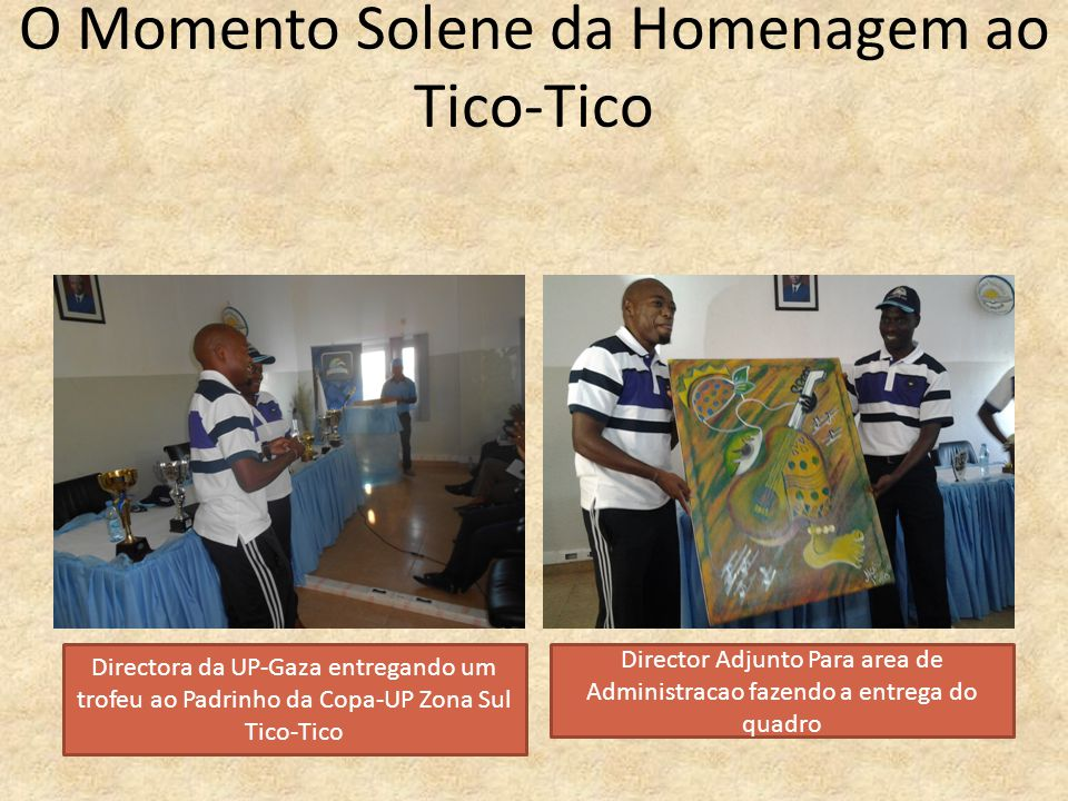 O Momento Solene da Homenagem ao Tico-Tico
