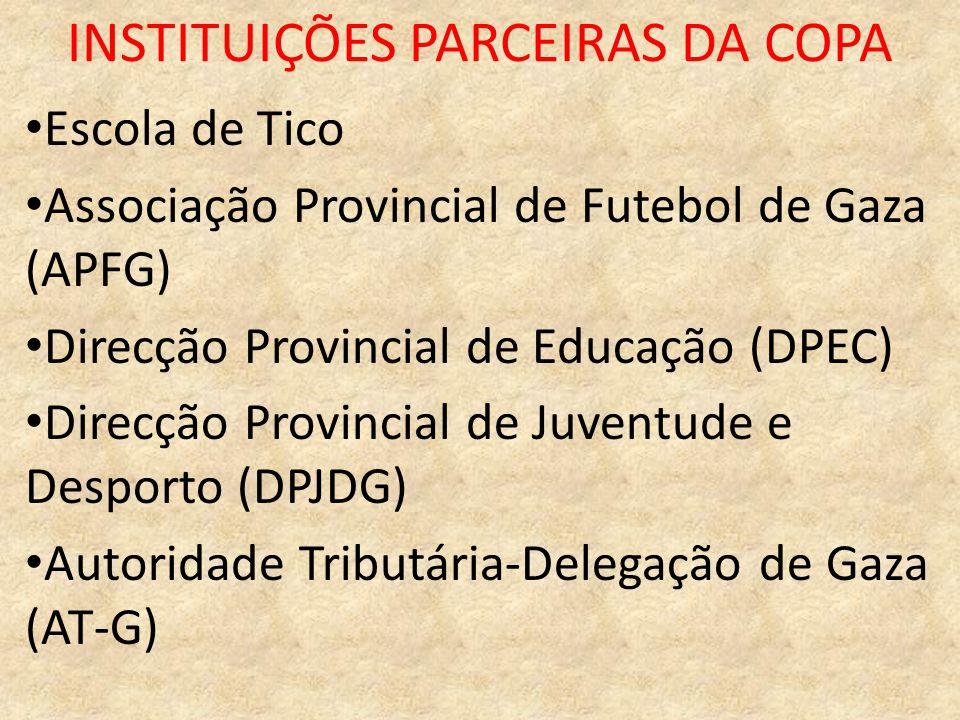 INSTITUIÇÕES PARCEIRAS DA COPA