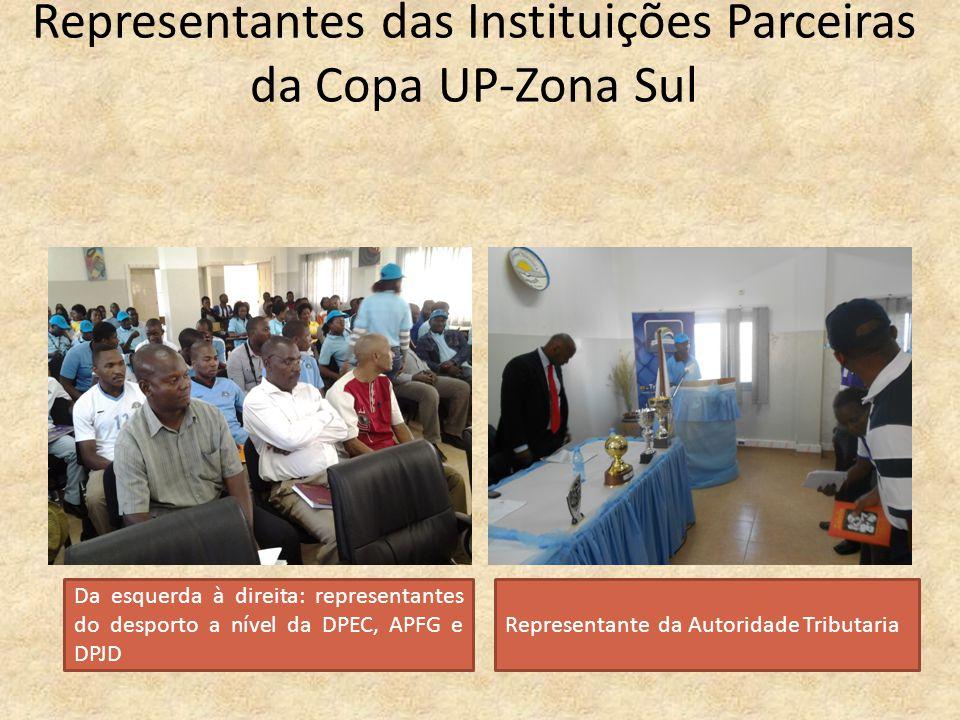 Representantes das Instituições Parceiras da Copa UP-Zona Sul