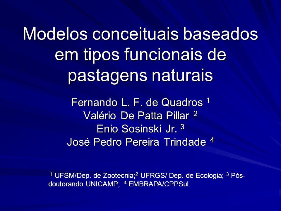 Modelos conceituais baseados em tipos funcionais de pastagens naturais