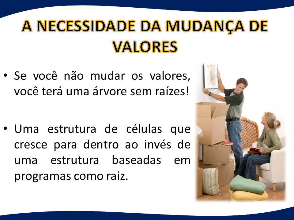 A NECESSIDADE DA MUDANÇA DE VALORES