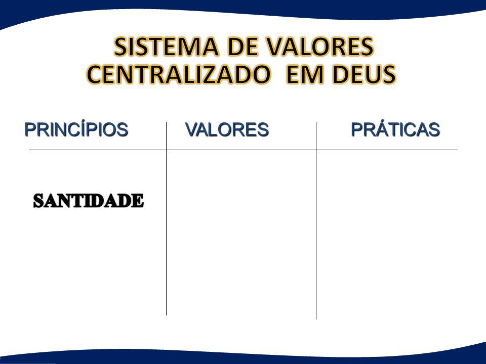 SISTEMA DE VALORES CENTRALIZADO EM DEUS