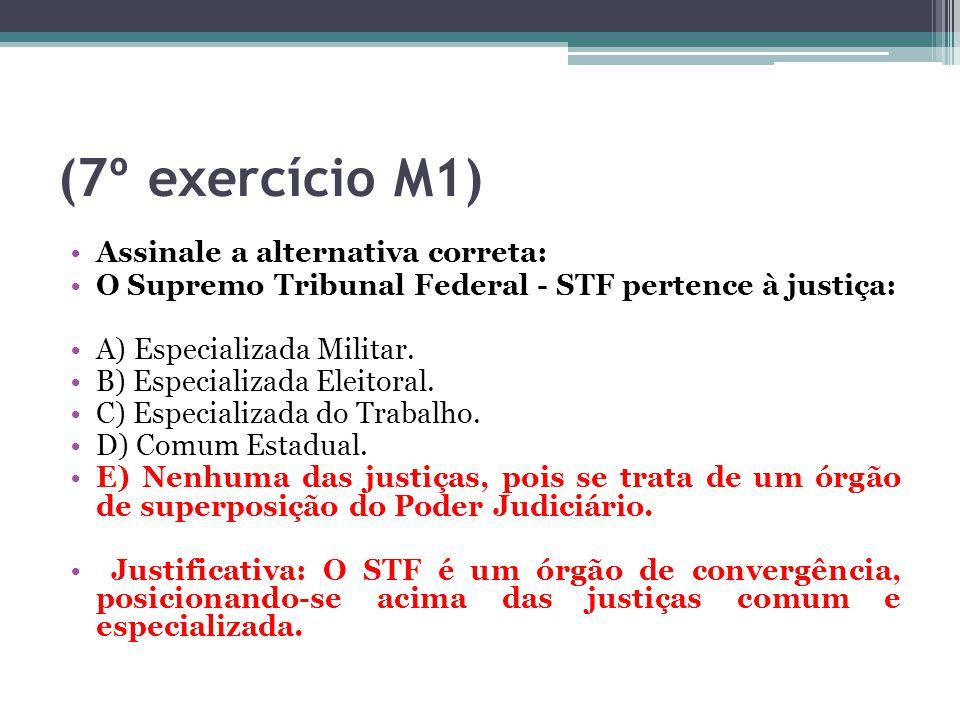 (7º exercício M1) Assinale a alternativa correta: