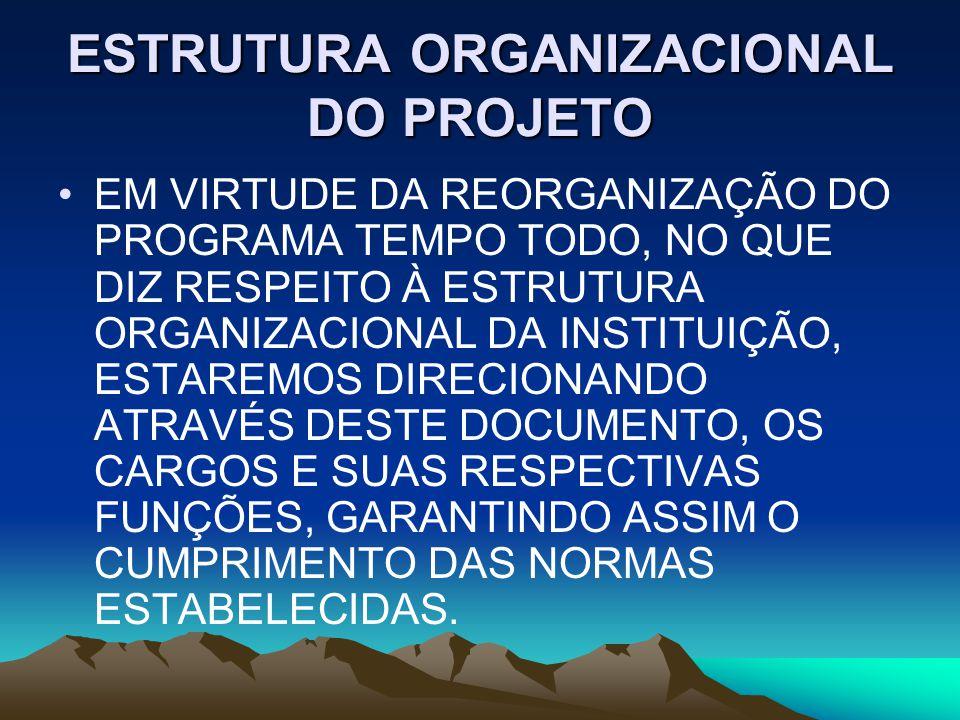 ESTRUTURA ORGANIZACIONAL DO PROJETO