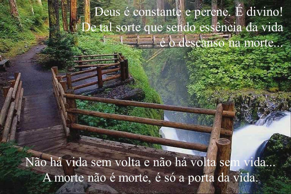 Deus é constante e perene. É divino!