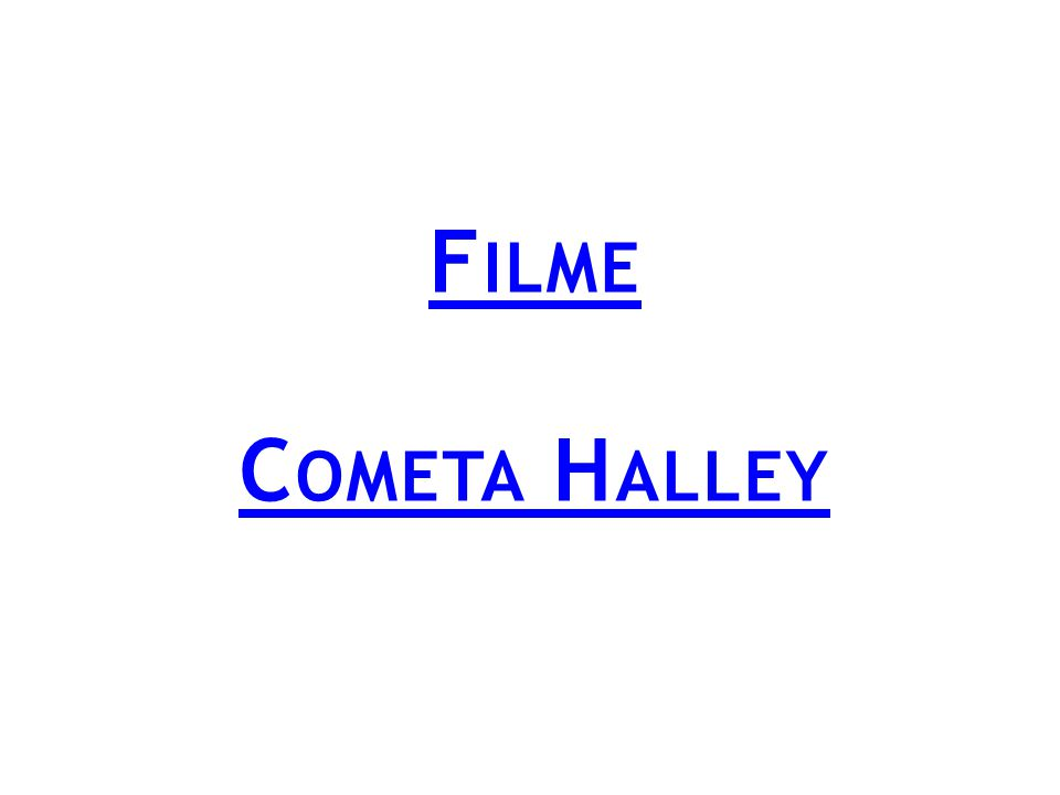 Filme Cometa Halley