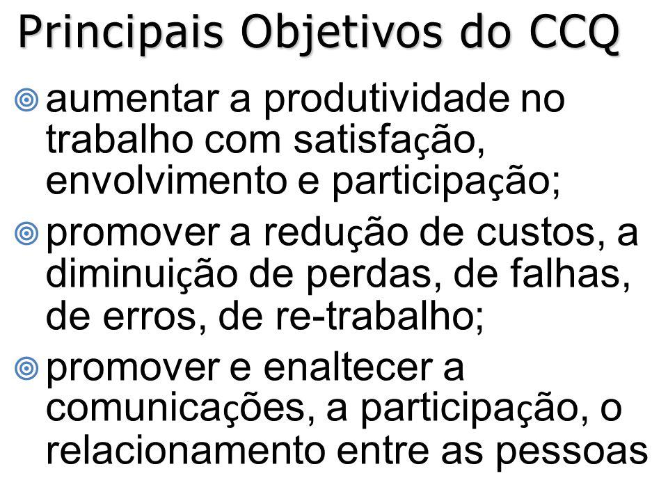 Principais Objetivos do CCQ