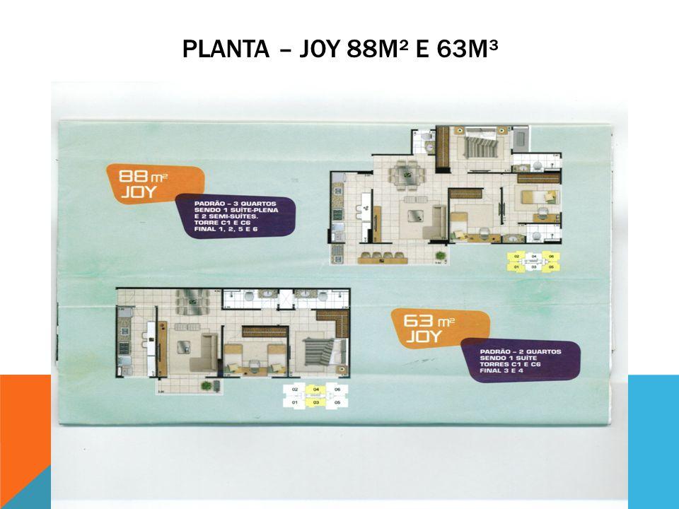 Planta – joy 88m² e 63m³