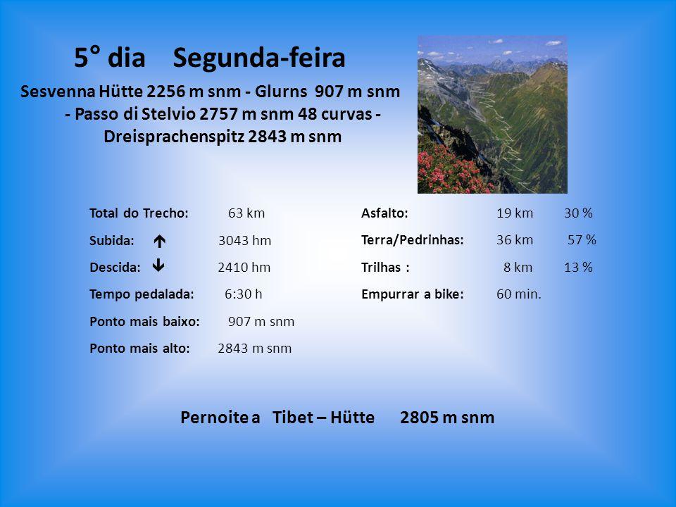 Pernoite a Tibet – Hütte 2805 m snm
