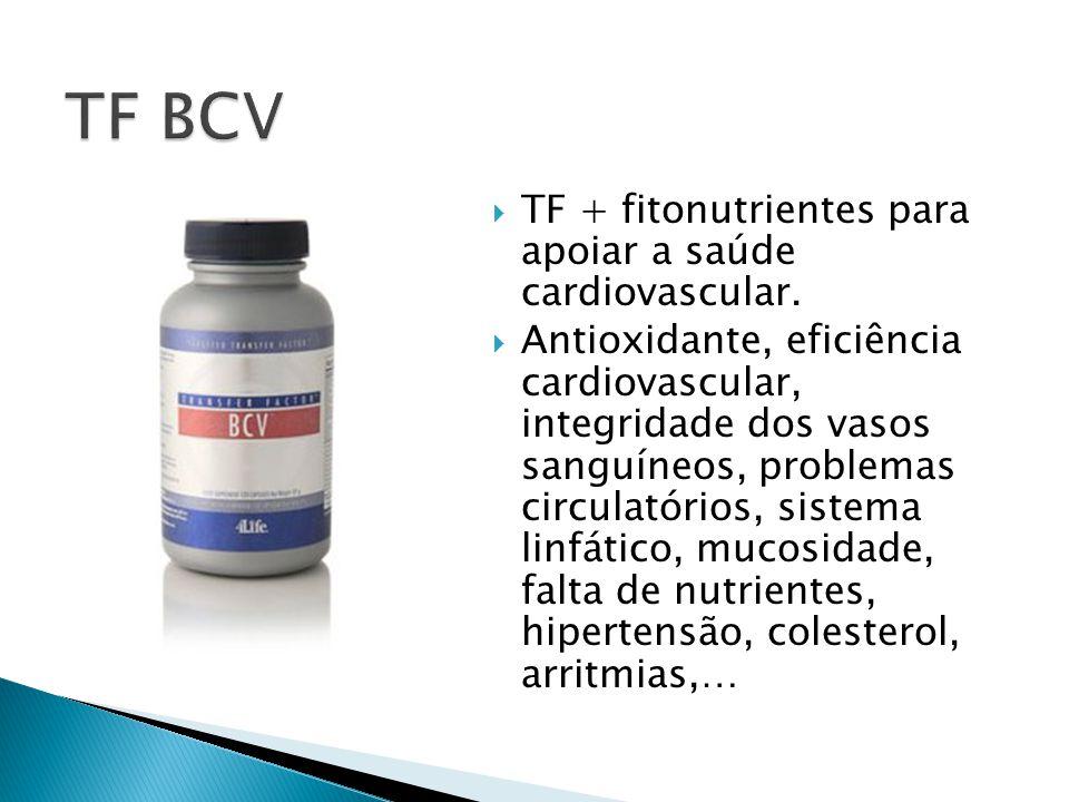 TF BCV TF + fitonutrientes para apoiar a saúde cardiovascular.