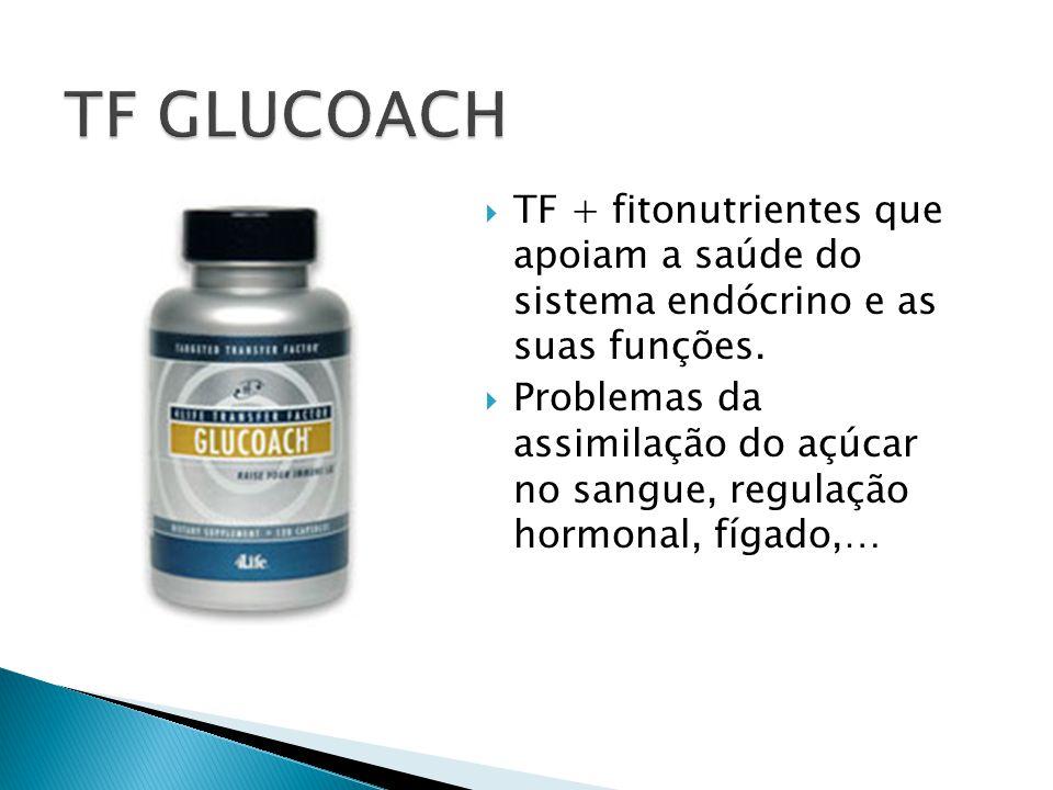 TF GLUCOACH TF + fitonutrientes que apoiam a saúde do sistema endócrino e as suas funções.