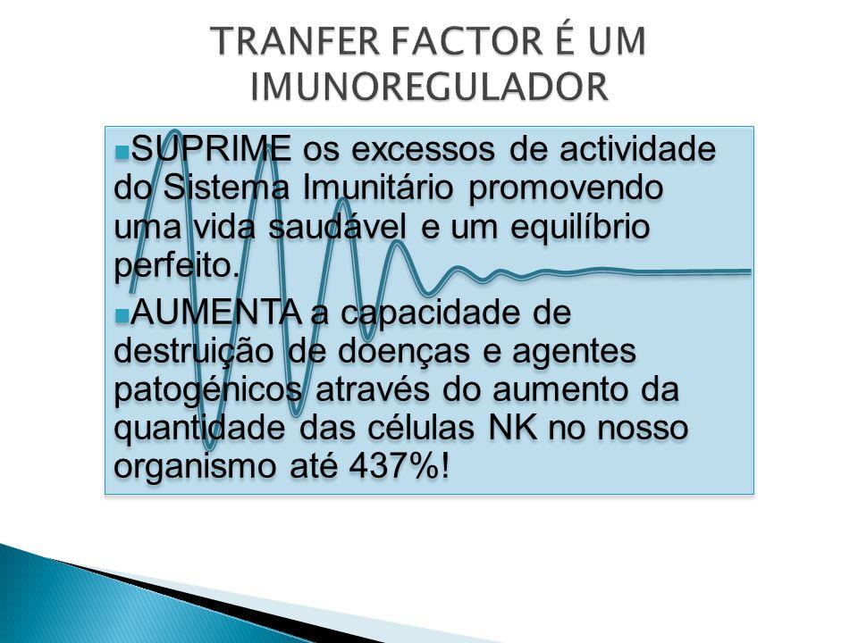 TRANFER FACTOR É UM IMUNOREGULADOR